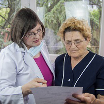 Woman doctor and patient confidentiality